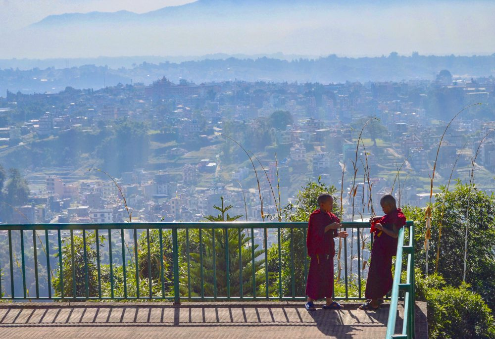Royal Caribbean, Intern-Ship of The Seas, monks in Kathmandu